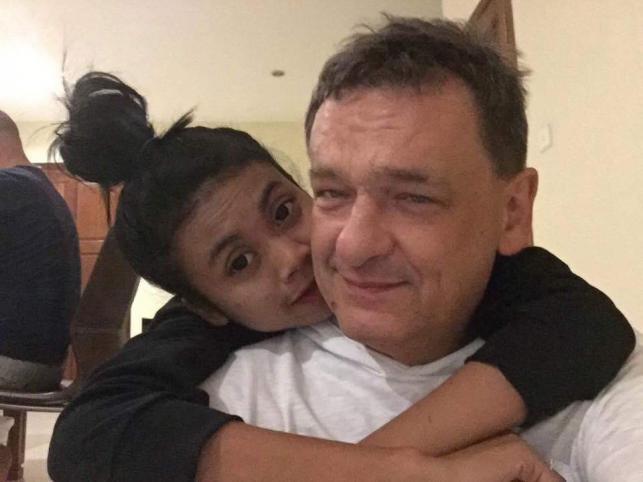Piotr Tymochowicz i jego przyszła żona Sa Na