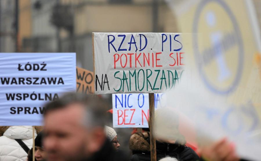 Protest przeciwko zmianom prawa wyborczego
