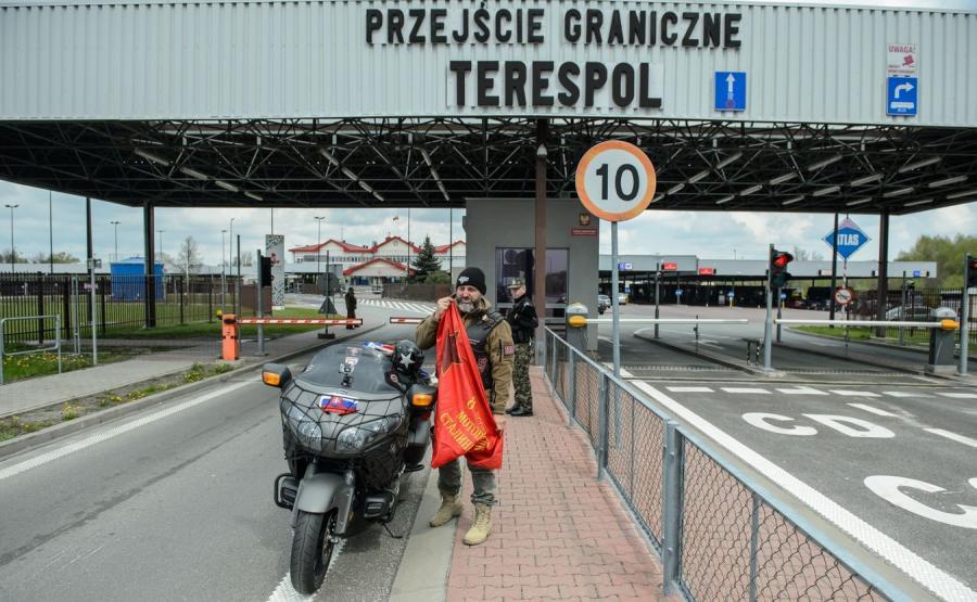 """Słowacki członek klubu motocyklowego """"Nocne Wilki"""""""