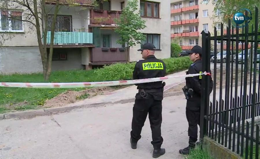 Policja na miejscu zdarzenia
