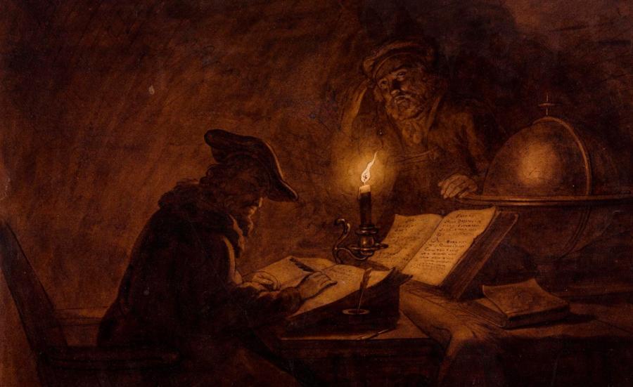Michiel Versteegh, Uczeni w pracowni | The Scholars in their Study, przełom XVIII i XIX w.