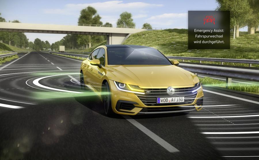 Volkswagen arteon jest wyposażony w system Emergency Assist 2.0