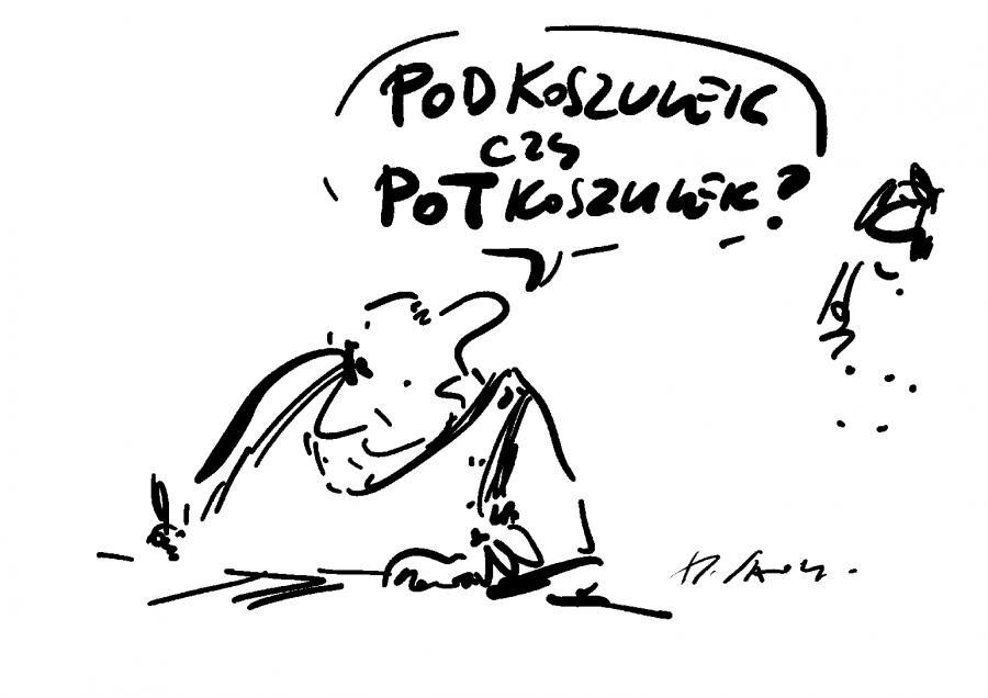 Podkoszulek / rys. Henryk Sawka