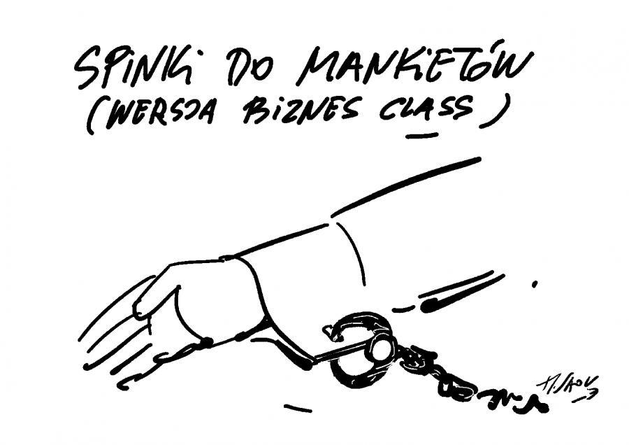 Spinki / rys. Henryk Sawka