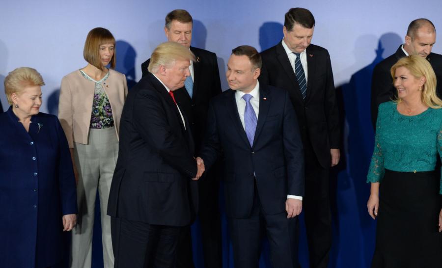 Donald Trump i Andrzej Duda wśród liderów państw Trójmorza