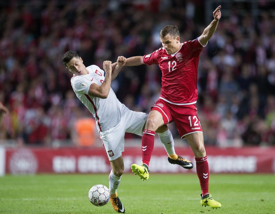 Andreas Bjelland i Robert Lewandowski