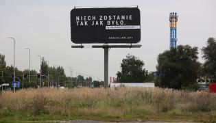 Billboard kampanii Sprawiedliwe sądy