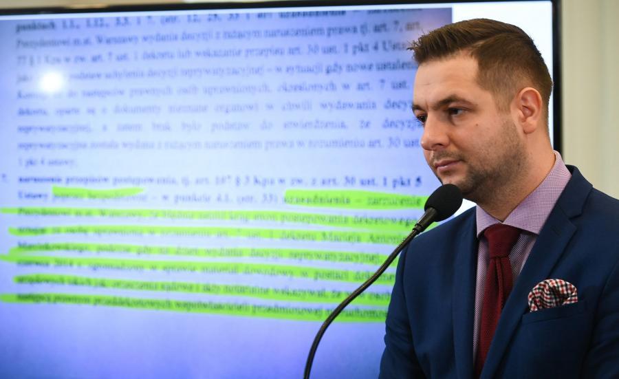 Patryk Jaki prezentował nową ustawę reprywatyzacyjną