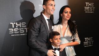 Cristiano Ronaldo, Georgina Rodriguez i Cristiano Ronaldo Jr