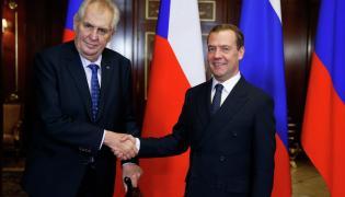 Milosz Zeman i Dmitrij Miedwiediew