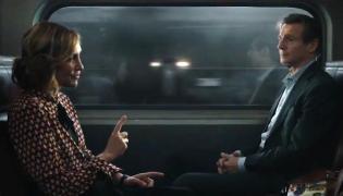 "Vera Farmiga oraz Liam Neeson w filmie ""Pasażer"""
