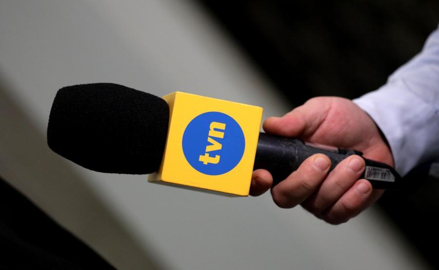 Mikrofon z logiem TVN