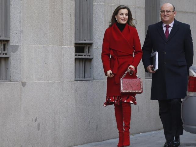 Królowa Letizia i jej sekretarz Jose Manuel Zuleta
