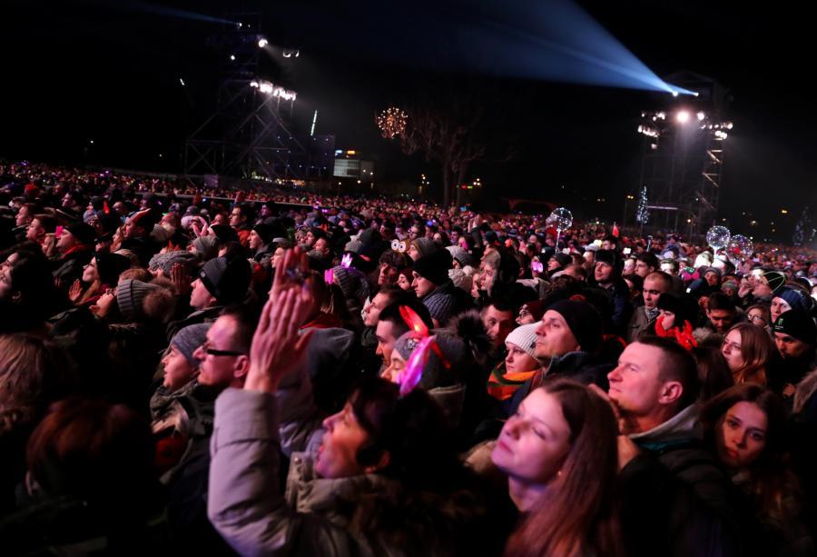 Publiczność podczas koncertu sylwestrowego w Zakopanem