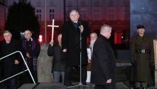 Jarosław Kaczyński podczas miesięcznicy