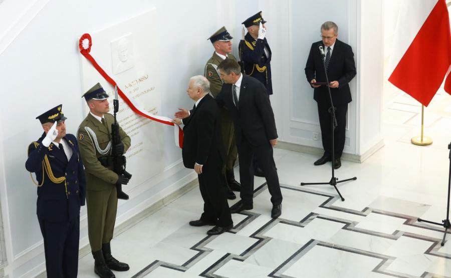 Odsłonięcie tablicy w Sejmie