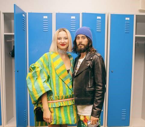 Natalia Nykiel i Jared leto na koncercie w Łodzi. 30 Secons To Mars zagrało w tamtejszej Atlas Arenie. fot. Paweł Zanio
