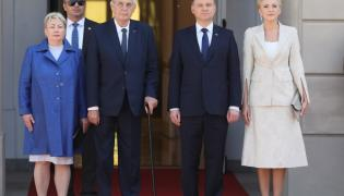 Ivana Zemanová i Milosz Zeman oraz Andrzej Duda i Agata Kornhauser-Duda