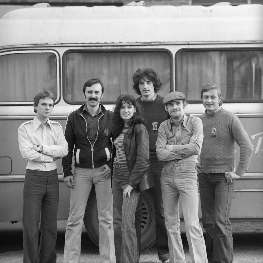 Jarosław Kozidrak na zdjęciu drugi z prawej. Bajm w 1979 roku - fot. Marek Karewicz