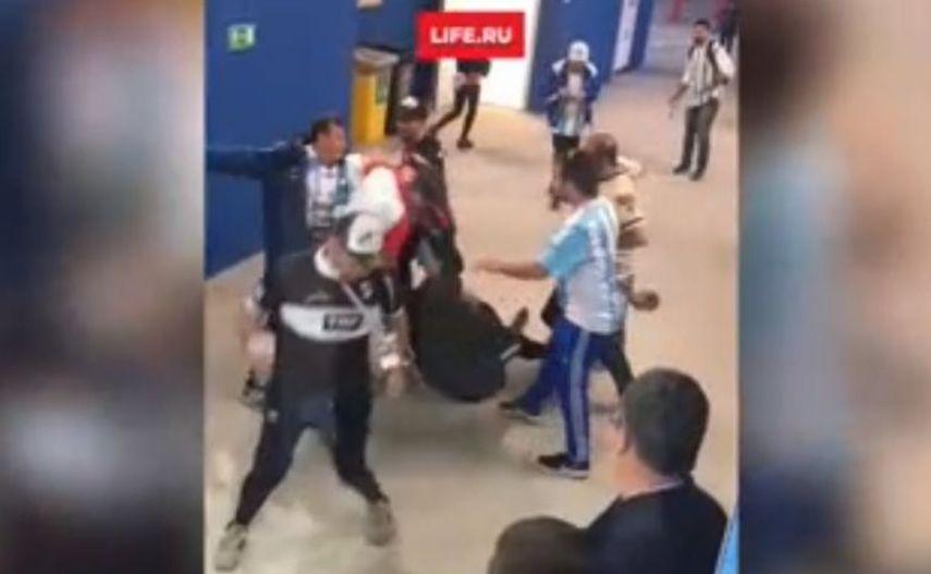 Kibice z Argentyny pobili fanów reprezentacji Chorwacji