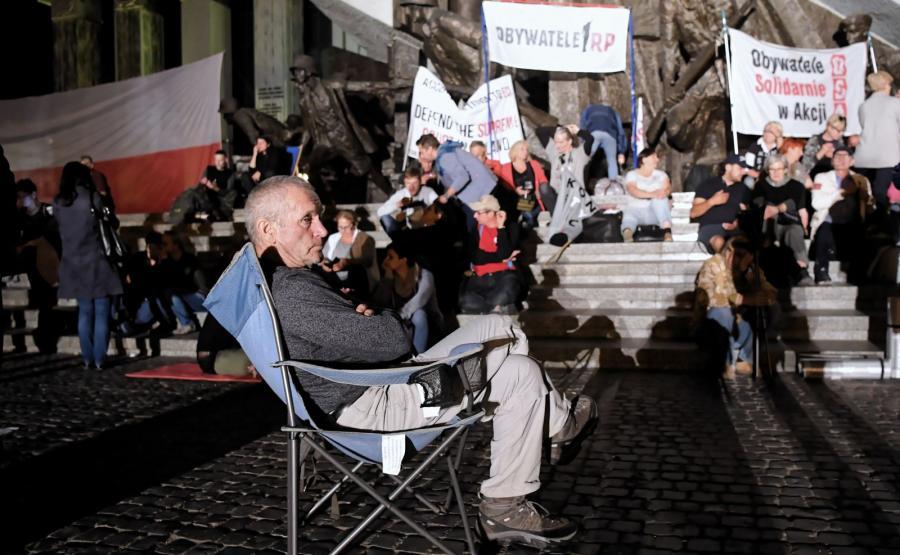 Manifestacja przed siedzibą Sądu Najwyższego