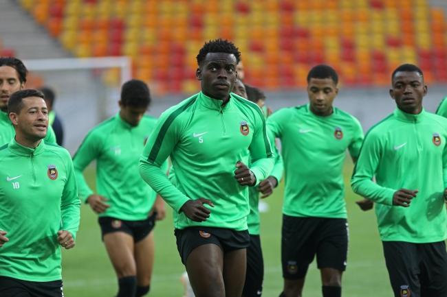 Piłkarze Rio Ave podczas treningu na stadionie Jagielloni