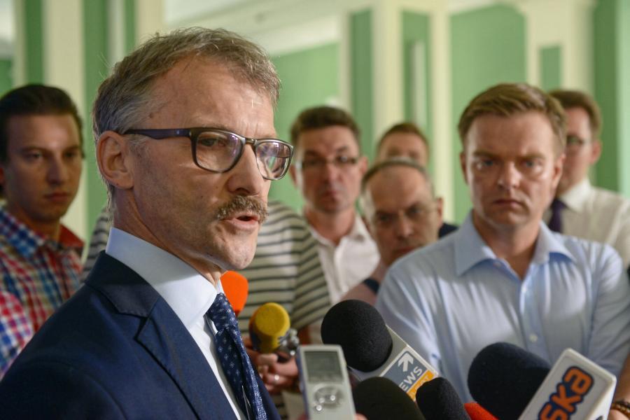 Przewodniczący Krajowej Rady Sądownictwa sędzia Leszek Mazur