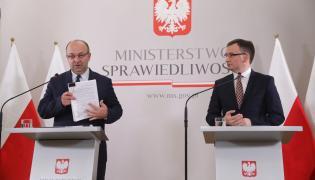 Minister sprawiedliwości, prokurator generalny Zbigniew Ziobro oraz podsekretarz stanu Łukasz Piebiak
