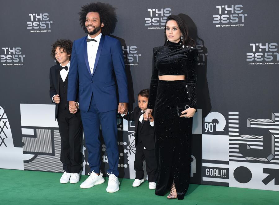 Marcelo z żoną i dziećmi