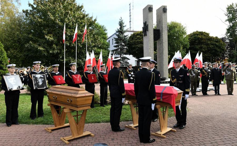 pogrzeb admirała Józefa Unruga i jego żony Zofii