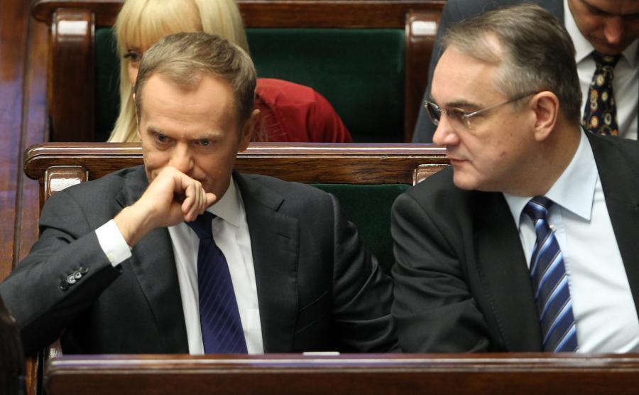 Donald Tusk i Waldemar Pawlak za czasów rządu PO