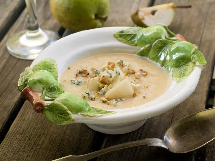 Zupa krem z białych warzyw i gruszki