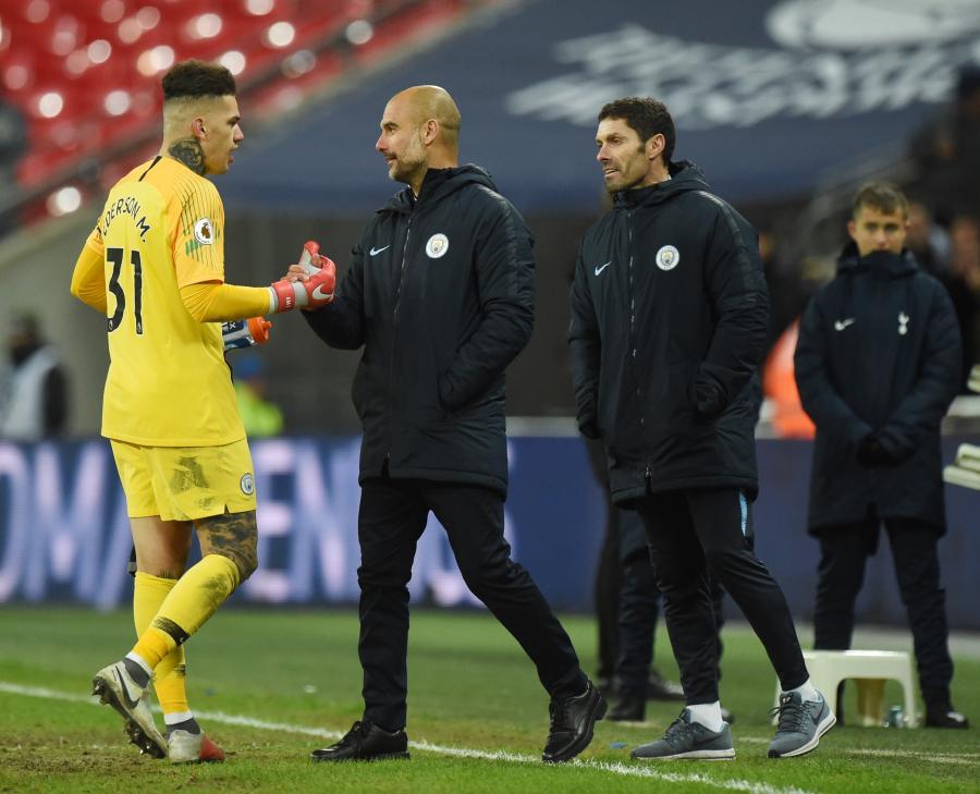 Pep Guardiola i Ederson Moraes