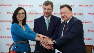 Kamila Gasiuk-Pihowicz, Andrzej Halicki i Adam Struzik
