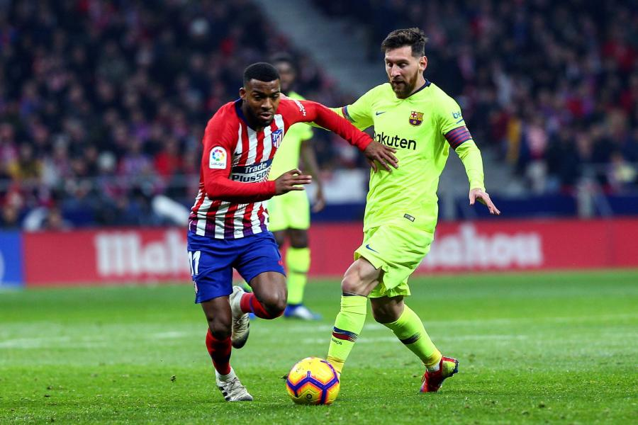 Thomas Lemar i Leo Messi