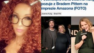 Ewa Minge, Joanna Kulig i Brad Pitt