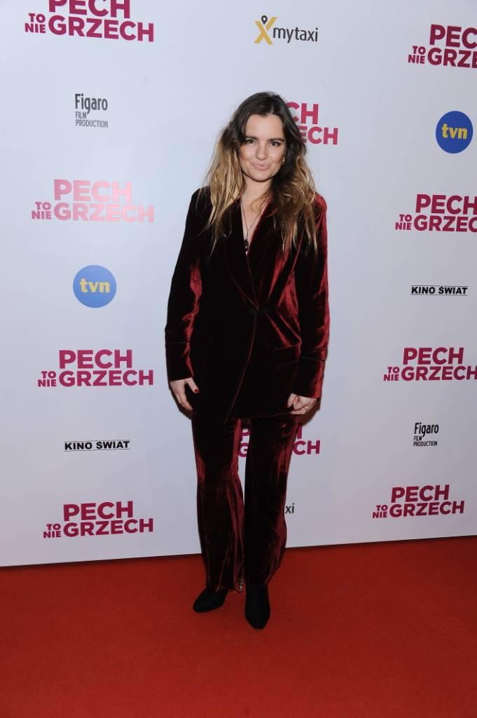 """Maria Niklińska na premierze filmu """"Pech to nie grzech"""" 17 grudnia 2018"""