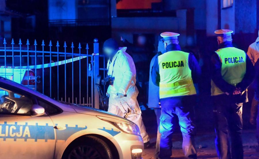 Policja przed escape roomem w Koszalinie