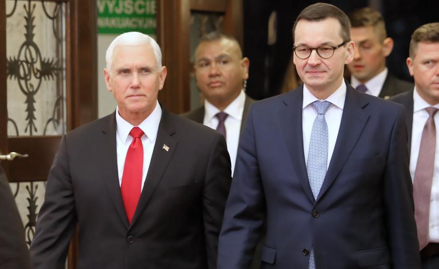 Wiceprezydent USA Mike Pence oraz premier RP Mateusz Morawiecki