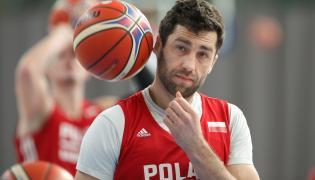Koszykarz reprezentacji Polski Adam Hrycaniuk