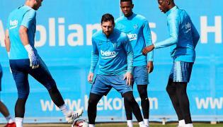 Jasper Cillessen, Lionel Messi, Nelson Semedo i Ousmane Dembele