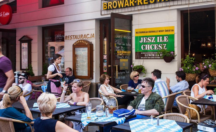 Restauracja na Nowym Świecie w Warszawie