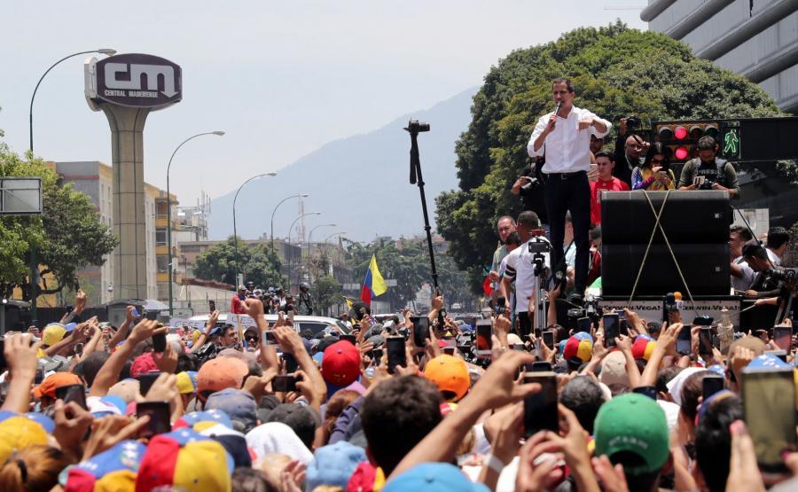 Juan Guaido na wiecu
