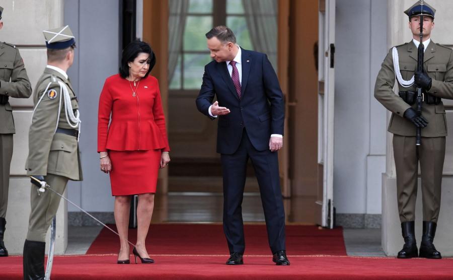 Andrzej Duda i prezydent Gruzji Salome Zurabiszwili