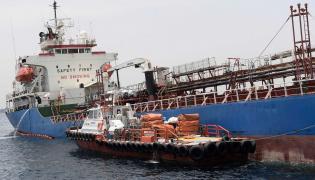 Jeden z uszkodzonych statków