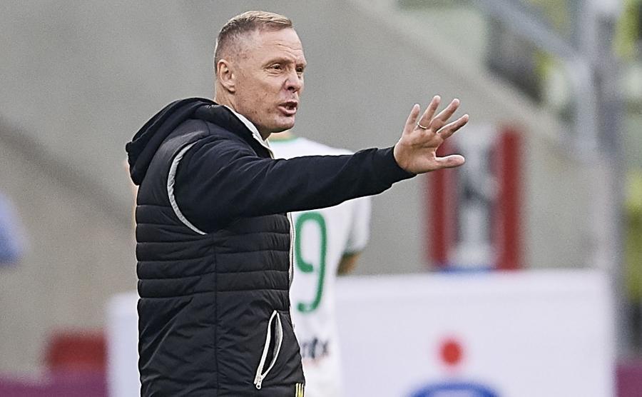 Trener Jagiellonii Białystok Ireneusz Mamrot
