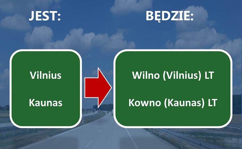 Nazwy zagranicznych miast na znakach drogowych będą zapisywane w języku polskim i w języku oryginalnym. Na wymianę oznakowania zarządcy będą mieli czas do końca 2028 r.
