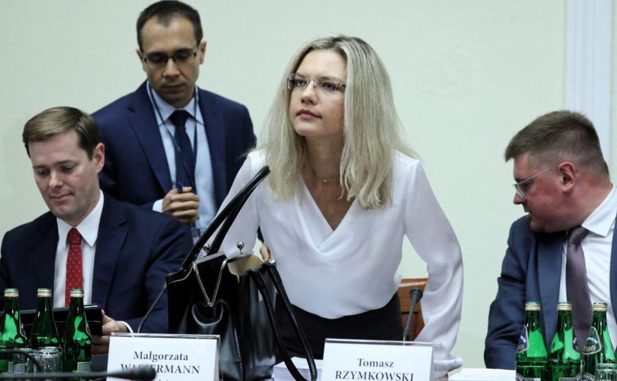 Przewodnicząca komisji ds. Amber Gold Małgorzata Wassermann