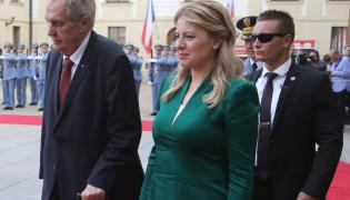 Zuzana Czaputova i Milos Zeman