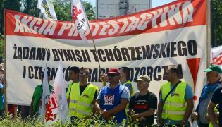 Protest związkowców z JSW